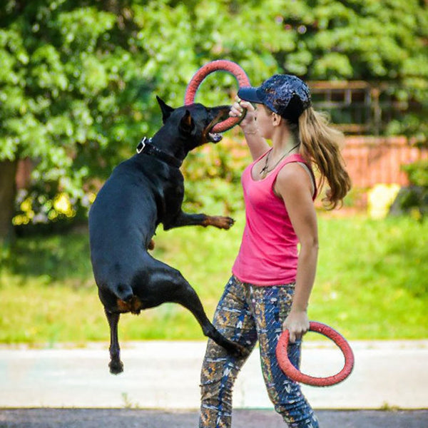 Bite Resistant Flying Ring Shaped Disc for Dogs