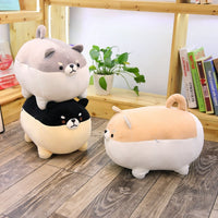 New 40/50cm Cute Shiba Inu Dog Plush Toy - Black