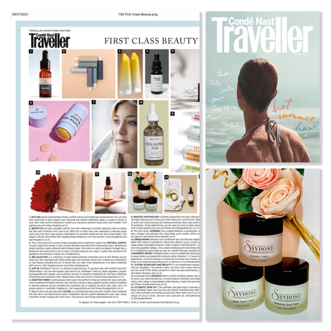 Traveller Magazing Sept 2021 Issue and Sydoni Moisturizers
