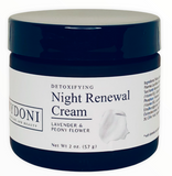 Detoxifying Night Renewal Cream with the lid on