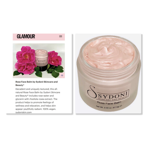 Rose Face Balm in Glamour Shops Digital Campaign