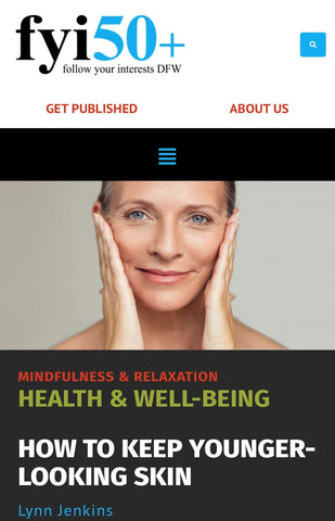 Cover Model fyi50+ How to keep younger looking skin article