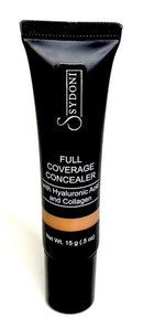 FULL COVERAGE CONCEALING CREAM WITH HYALURONIC ACID AND COLLAGEN .5 OZ.