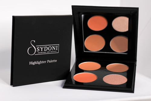 Buy one get one 1/2 off POWDER HIGHLIGHTER AND CONTOUR PALETTE (MED/DEEP SHADES) 5g. PER COLOR