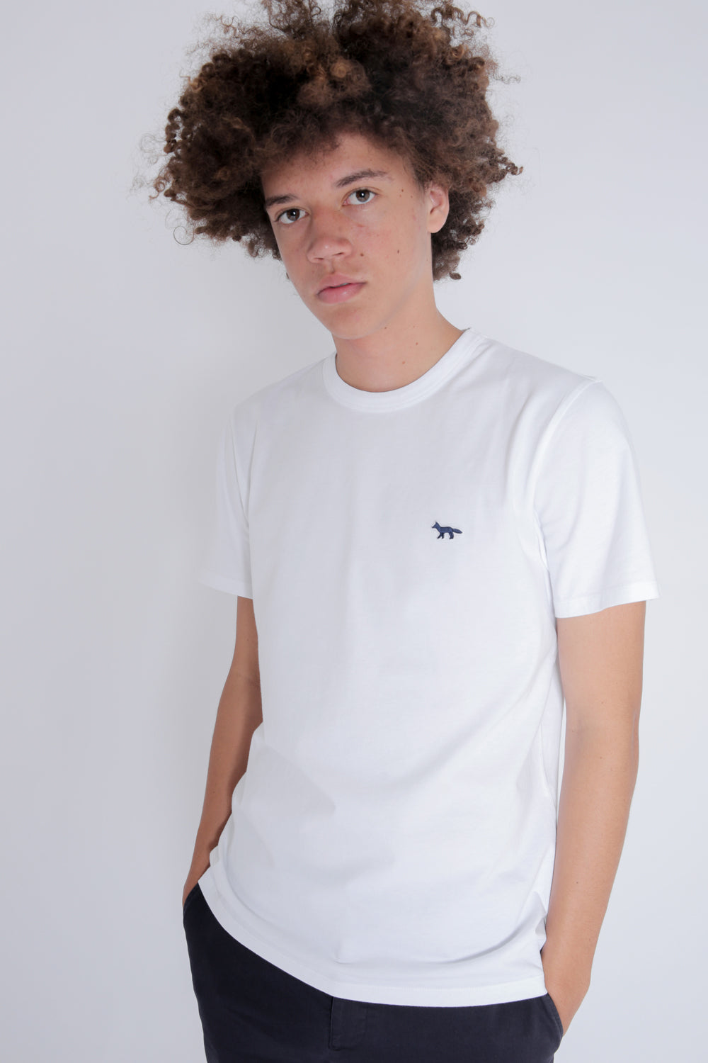 Fox Patch Classic T-Shirt White