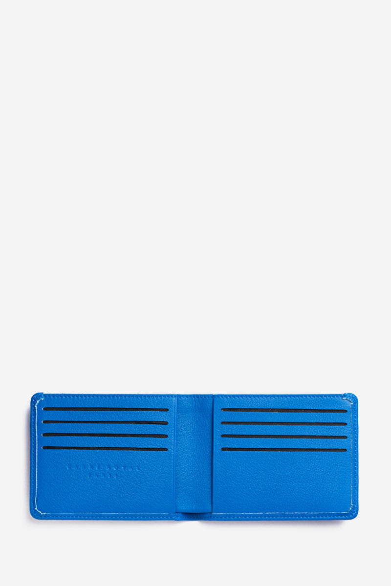 Blue Minimalist Slim Wallet