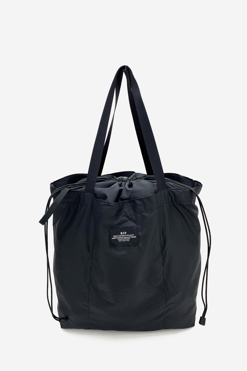 Packable Large Black Tote