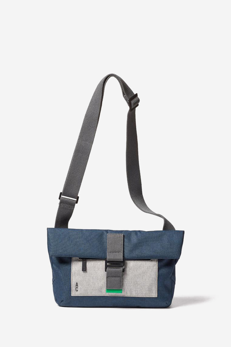 Travis Foldover Navy Satchel