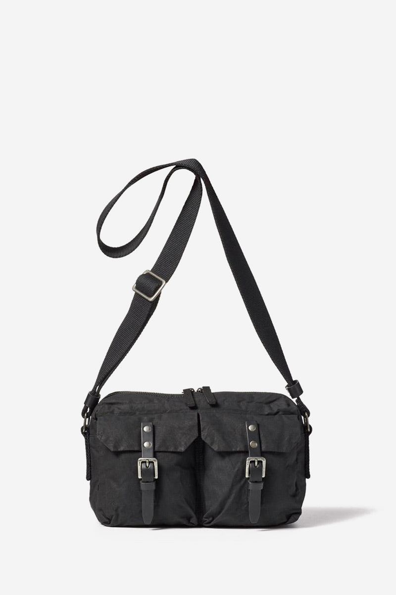 Franco Waxed Cotton Black Crossbody