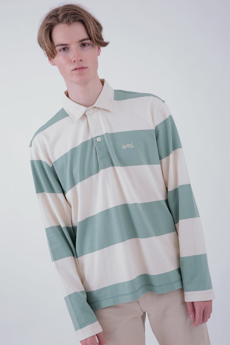 Rugby Striped Polo Shirt