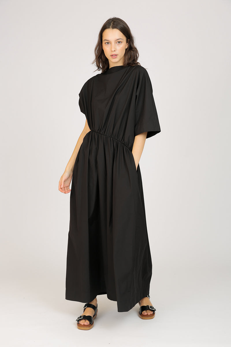 Asymmetrical Gathered Dress
