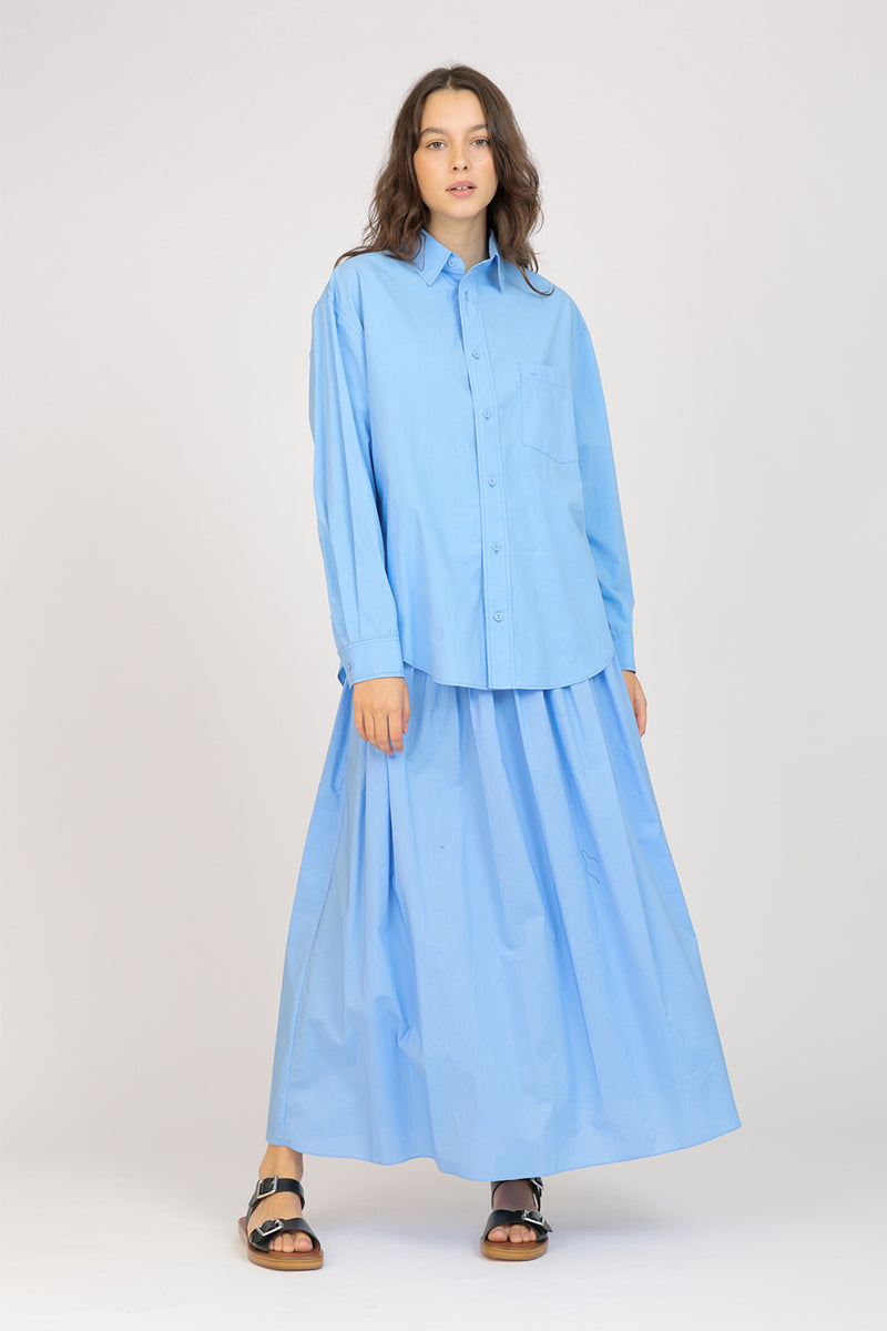 Shirred Skirt Cornflower