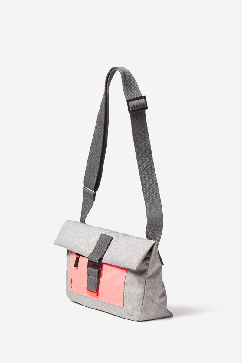 Travis Foldover Grey Satchel