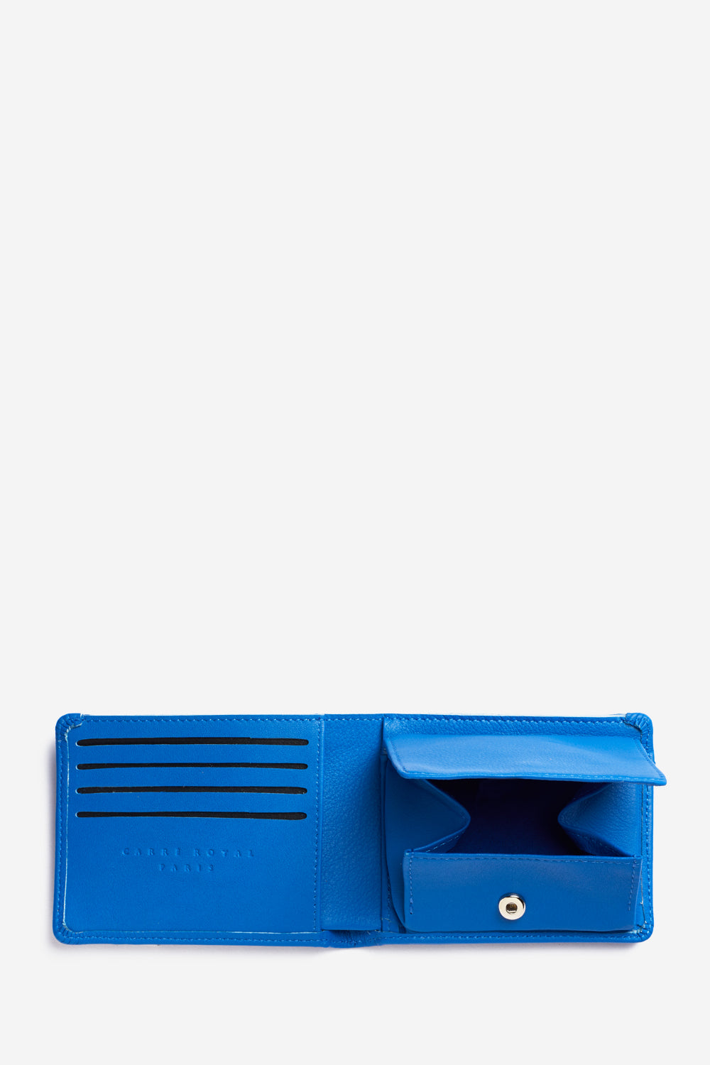 Blue Minimalist Coin Wallet