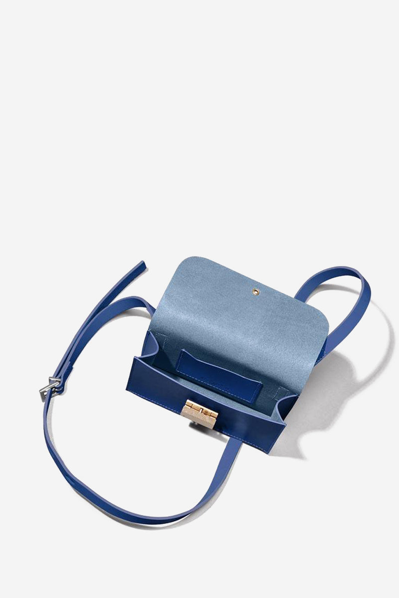 Mini Lock Boundary Leather Crossbody Bag