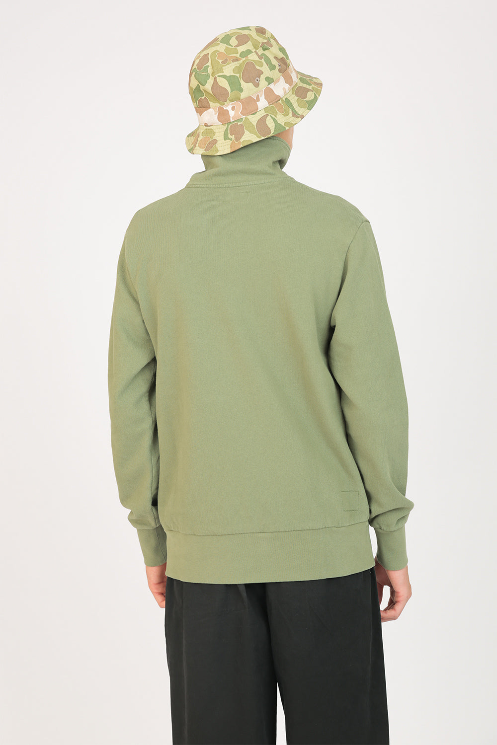 Half Zip Loopback Sweat