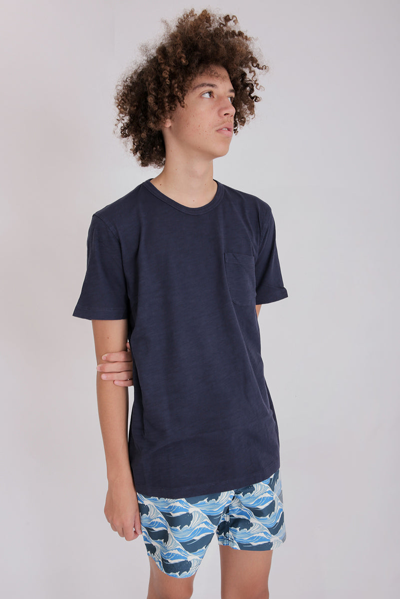 Wild Ones Cotton Slub Navy T-Shirt