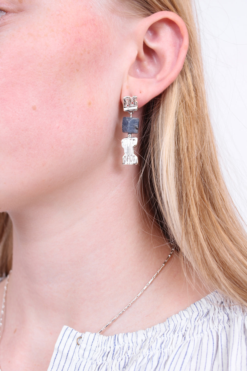 Lucy Folk Bes Drop Earrings