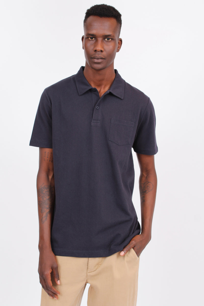 Cotton Riviera Navy Polo