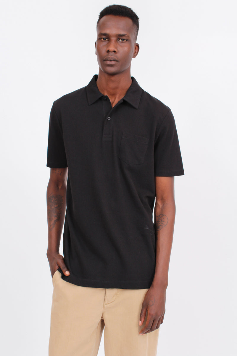 Cotton Riviera Black Polo