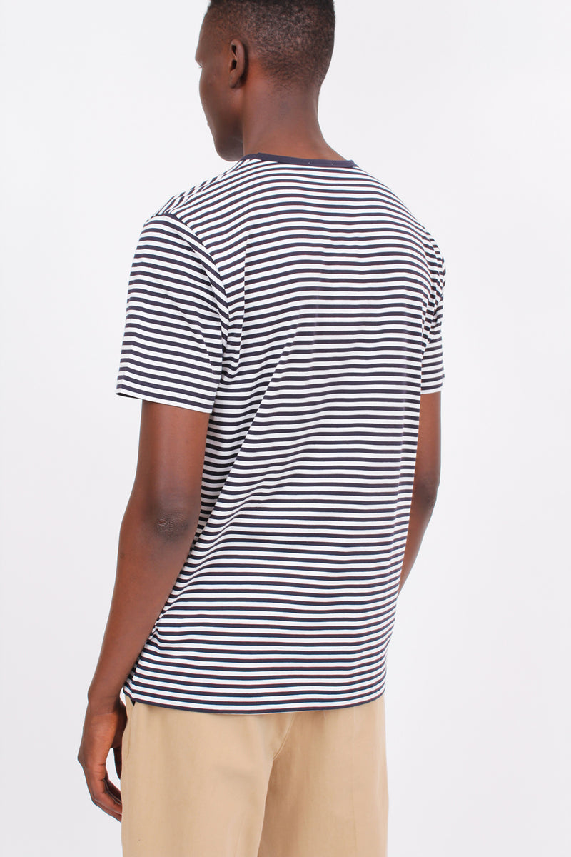 Classic Cotton Navy Stripe Tee