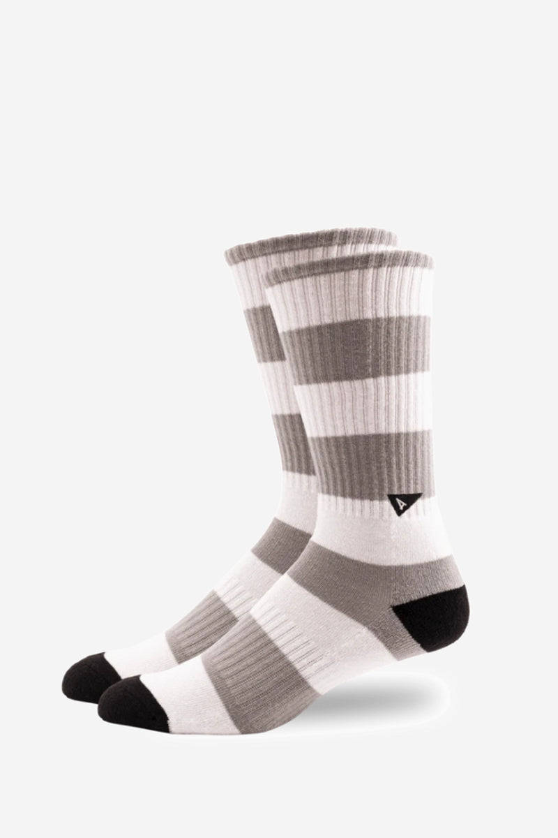 Tall Crew Rugy Grey Stripe Sock