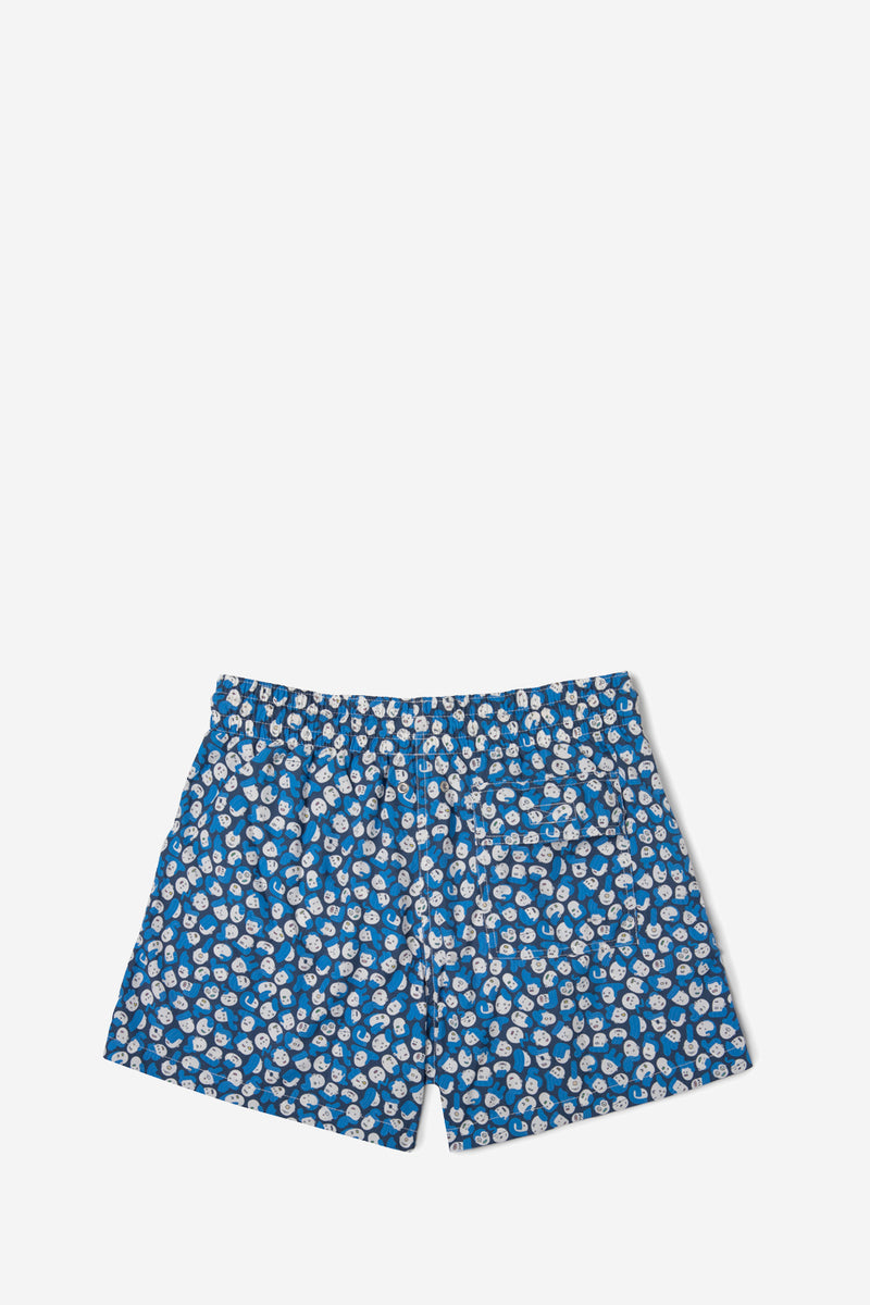 Arrels Classic Board Shorts Blue Faces