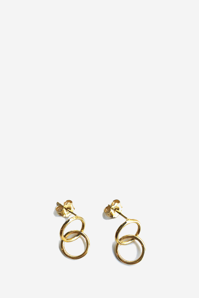 Mini Hoops Gold Plated Silver Earrings