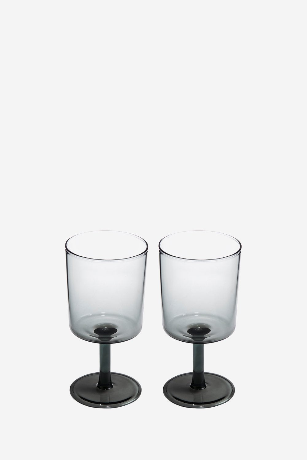 Set of 2 Smoke Wine Glasses