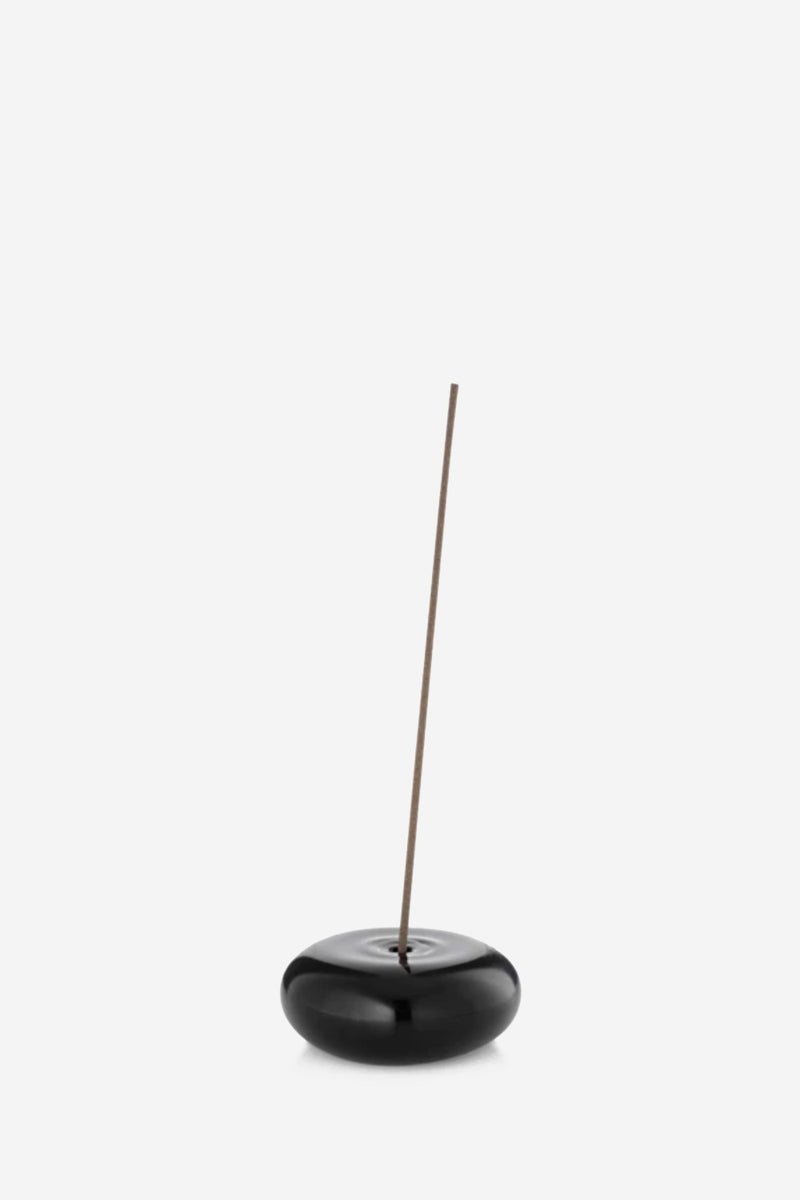 Pebble black Incense Holder