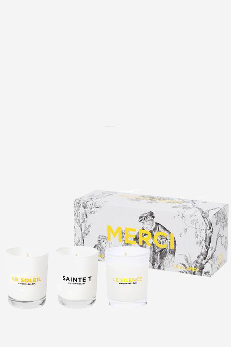 Maison Balzac Merci Set Of 3 Mini Candles