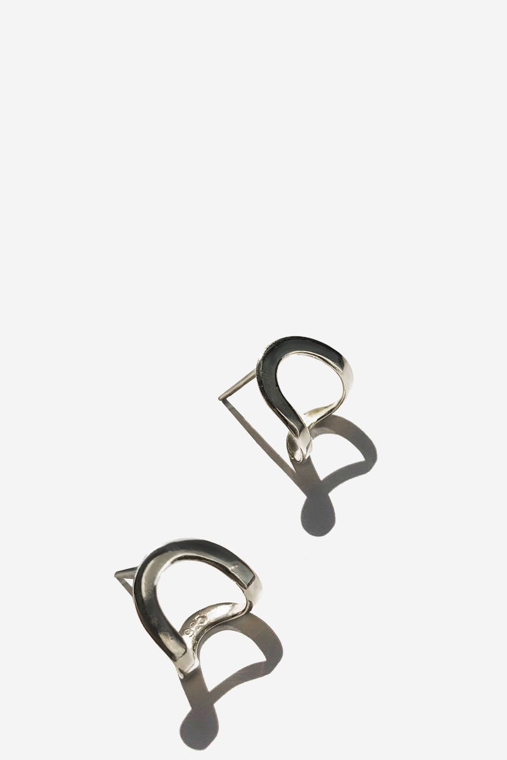 Silver Arch Earrings