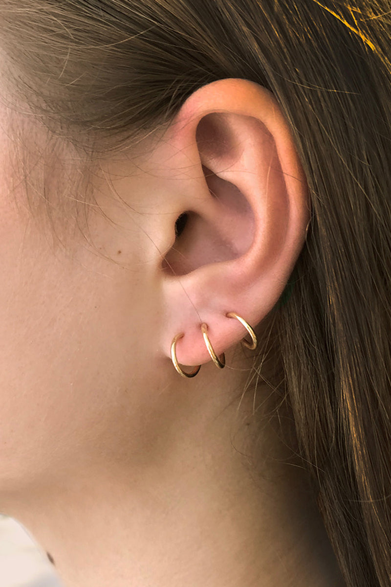 Trickster Goldplated Silver Single Stud