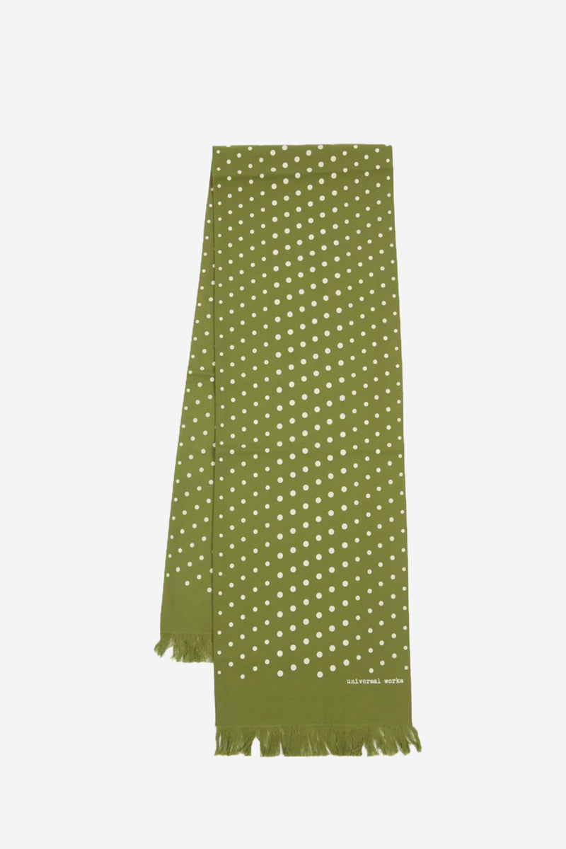 Short Dot Green Scarf