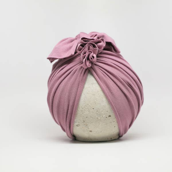 Vintage Head Wrap Hat - Mauve
