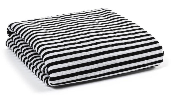 Organic Cotton Muslin Swaddle Blanket - STRIPES