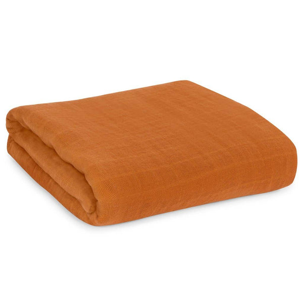 Organic Cotton Muslin Swaddle Blanket - Autumn Maple