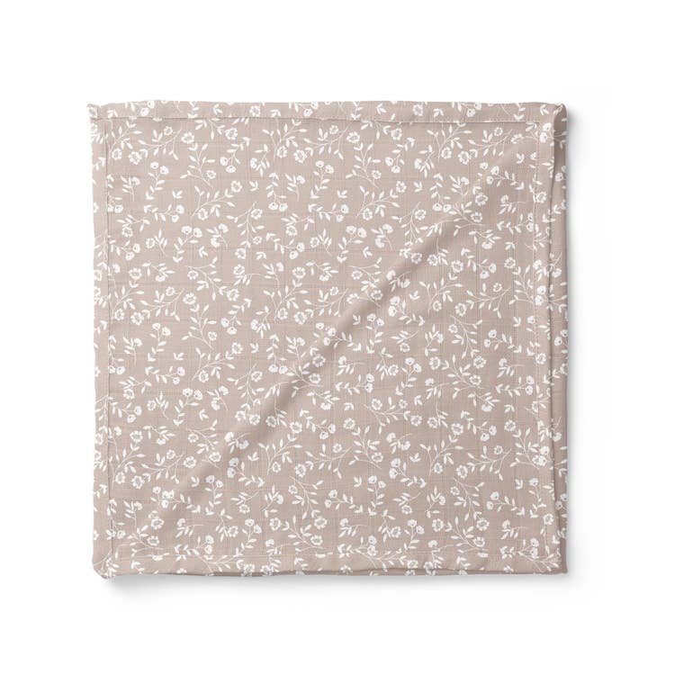 Wild Flower Swaddle, Taupe