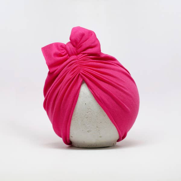 Classic Head Wrap Hat - Hot Pink