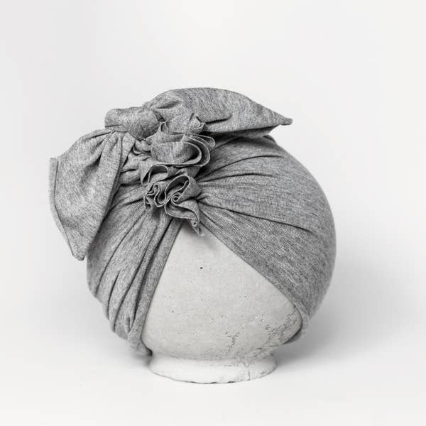Vintage Head Wrap Hat - Heather Grey