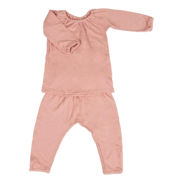 Double Knitted Long Sleeve and Pant Set - Dawn