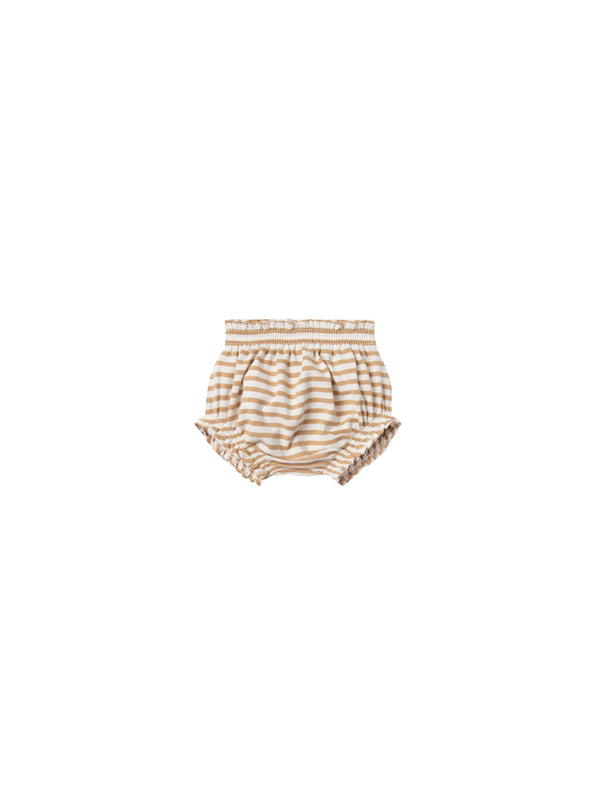 Gathered Bloomer Organic Brushed Jersey - Honey Stripe