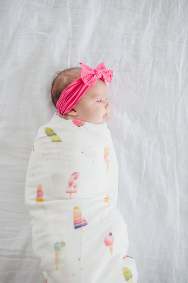 Ice Cream Social Muslin Swaddle