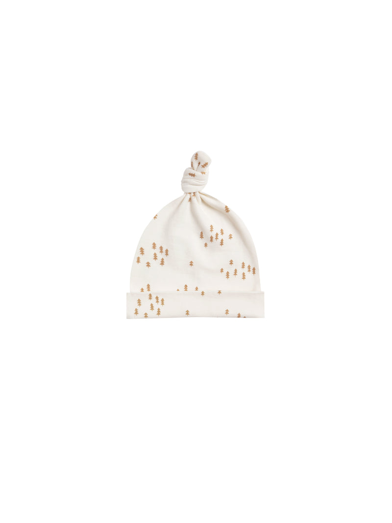 Knotted Baby Hat - Ivory