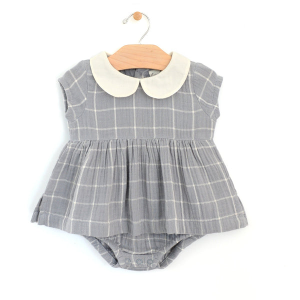 Peter Pan Collar Skirted Bodysuit