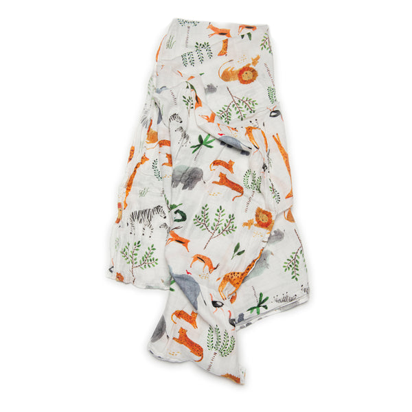 Safari Jungle Muslin Swaddle