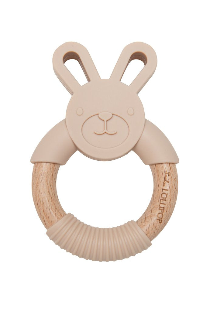 Bunny Teething Ring, Sand