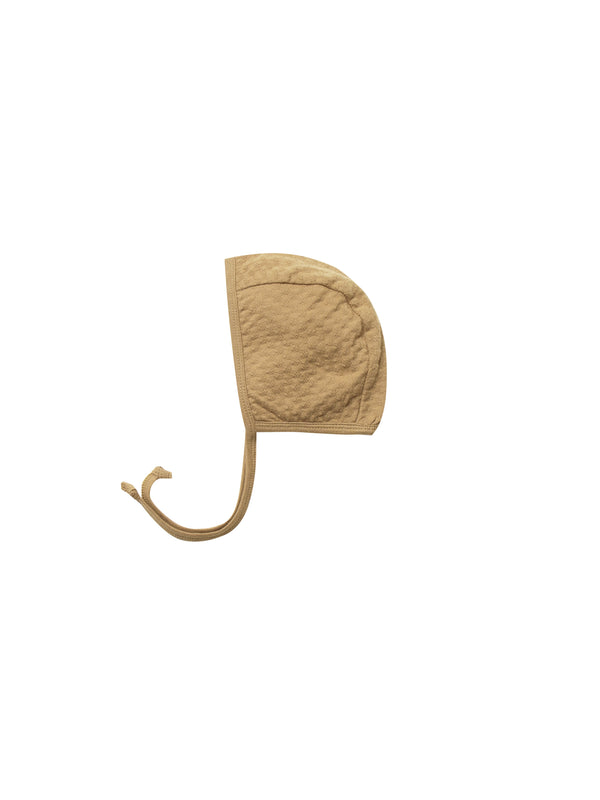 Pointelle Baby Bonnet - Honey