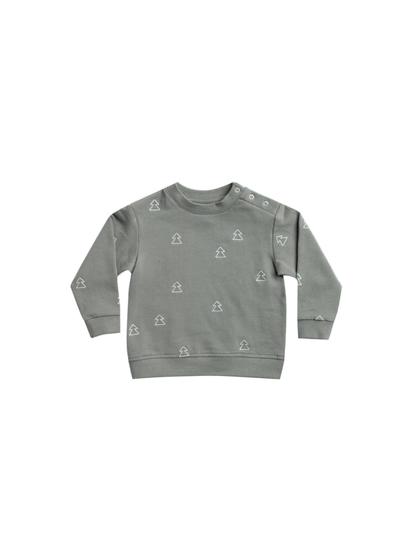 Fleece Basic Sweatshirt - Eucalyptus