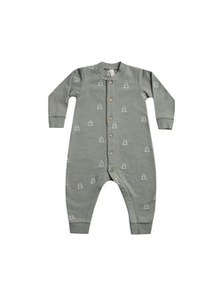 Fleece Jumpsuit - Eucalyptus